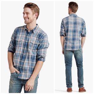 LUCKY BRAND Western Grom Plaid Button Down Shirt